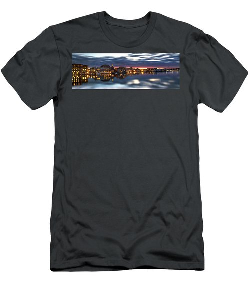 Portsmouth Waterfront Panorama Men's T-Shirt (Athletic Fit)