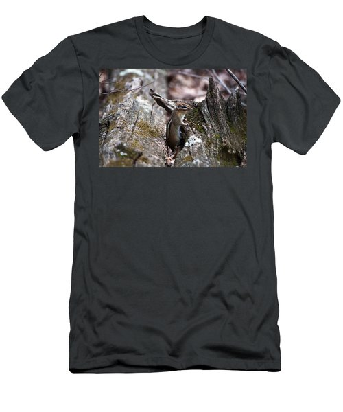 Men's T-Shirt (Slim Fit) featuring the photograph Posing #2 by Jeff Severson