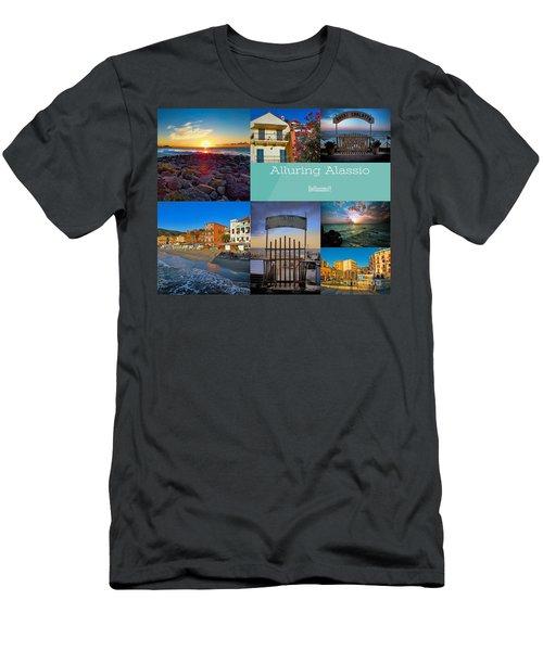 Postcard From Alassio Men's T-Shirt (Slim Fit) by Karen Lewis