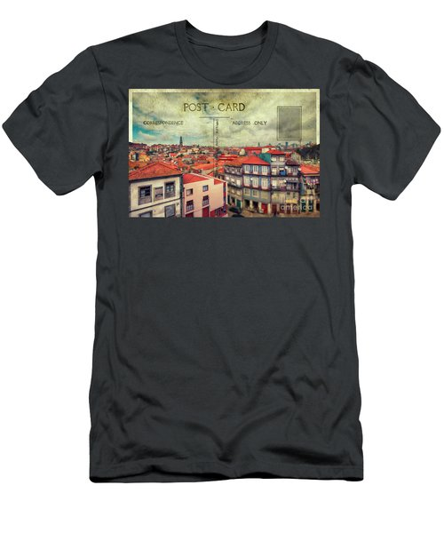 postcard of Porto Men's T-Shirt (Athletic Fit)