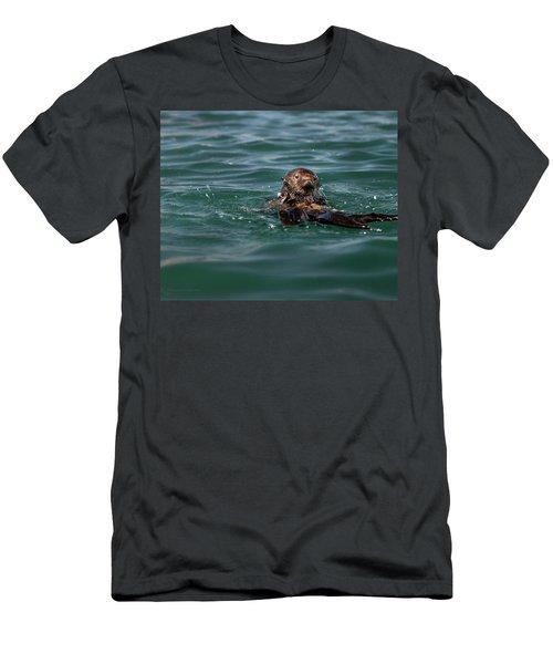 Pounding Muscle Men's T-Shirt (Athletic Fit)