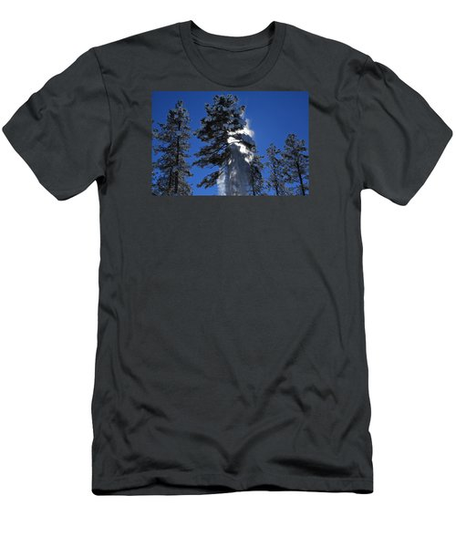 Men's T-Shirt (Slim Fit) featuring the photograph Powderfall by Gary Kaylor