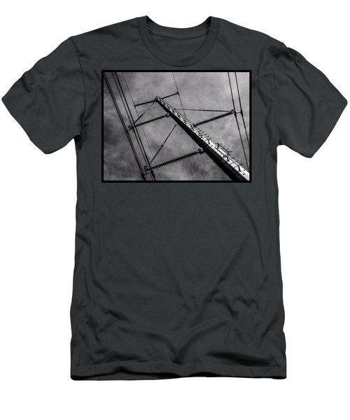 Power Line Sky Men's T-Shirt (Athletic Fit)