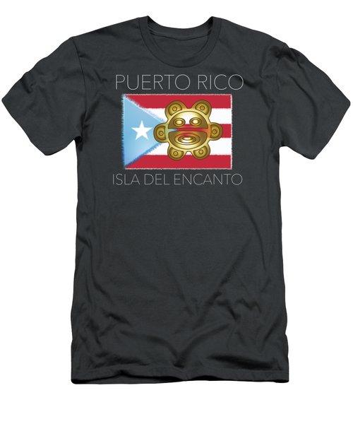 Pr Isla Del Encanto Men's T-Shirt (Athletic Fit)