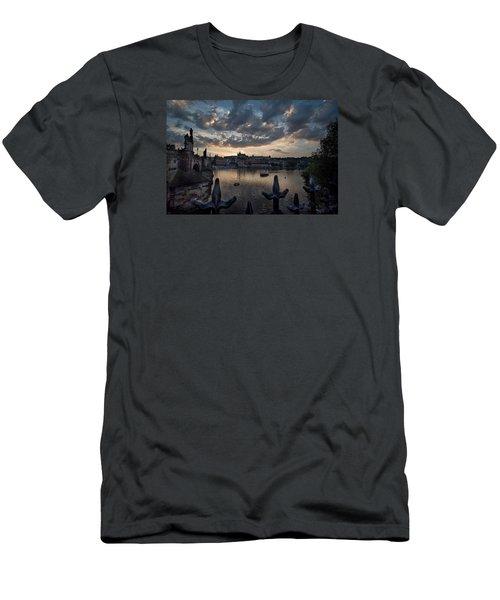 Prague Castle Men's T-Shirt (Slim Fit) by James David Phenicie