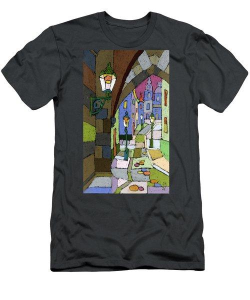 Prague Old Street Mostecka Men's T-Shirt (Athletic Fit)