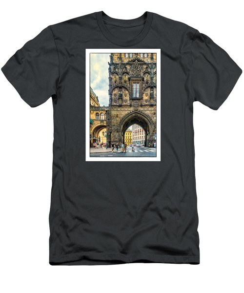 Prague Powder Tower  Men's T-Shirt (Slim Fit) by Janis Knight