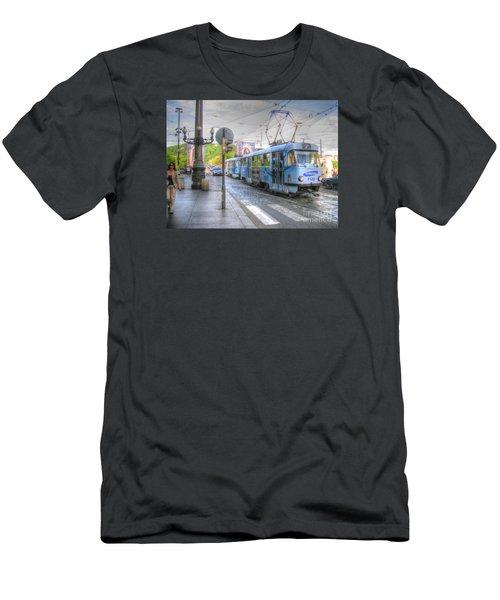 Praha Chehia Men's T-Shirt (Slim Fit) by Yury Bashkin