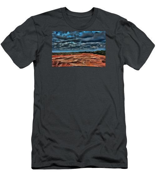 Prairie Dog Town Fork Red River Men's T-Shirt (Slim Fit) by Diana Mary Sharpton