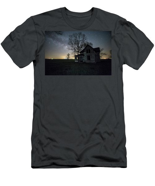 Men's T-Shirt (Slim Fit) featuring the photograph Prairie Gold And Milky Way by Aaron J Groen
