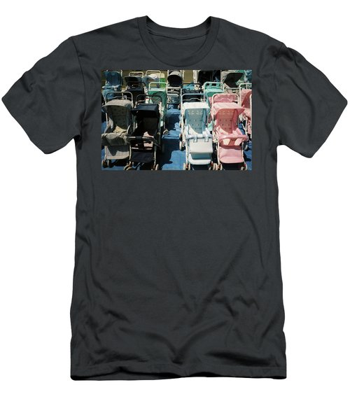Men's T-Shirt (Athletic Fit) featuring the photograph Pram Lot by Frank DiMarco