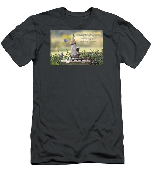 Prayer For The Animals That Bless Our Lives Men's T-Shirt (Slim Fit) by Bonnie Barry