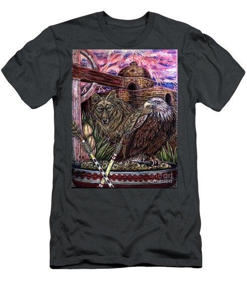 Praying Men's T-Shirt (Athletic Fit)