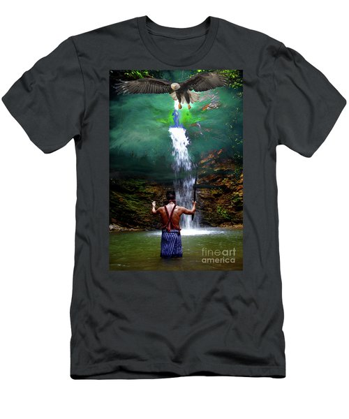 Men's T-Shirt (Slim Fit) featuring the photograph Praying To The Spirits by Al Bourassa