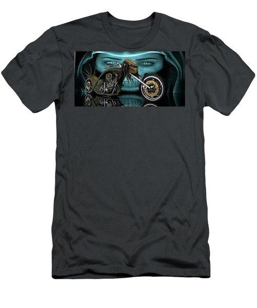 Men's T-Shirt (Slim Fit) featuring the digital art Predator Chopper by Louis Ferreira