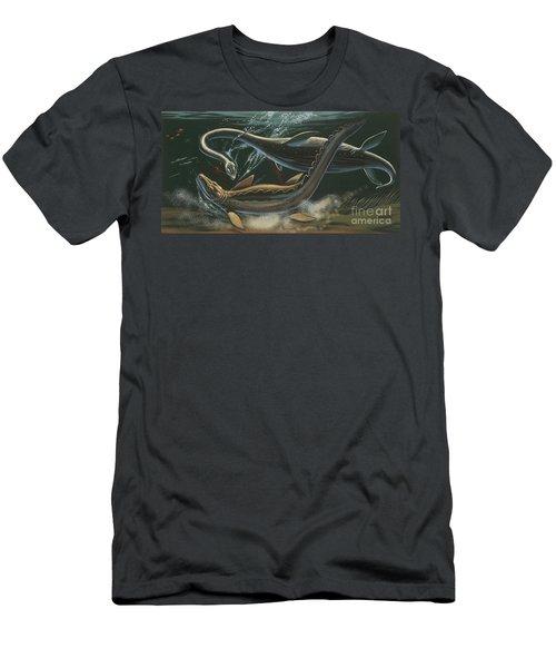 Prehistoric Marine Animals, Underwater View Men's T-Shirt (Slim Fit) by American School