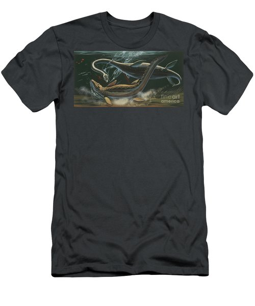 Prehistoric Marine Animals, Underwater View Men's T-Shirt (Slim Fit)