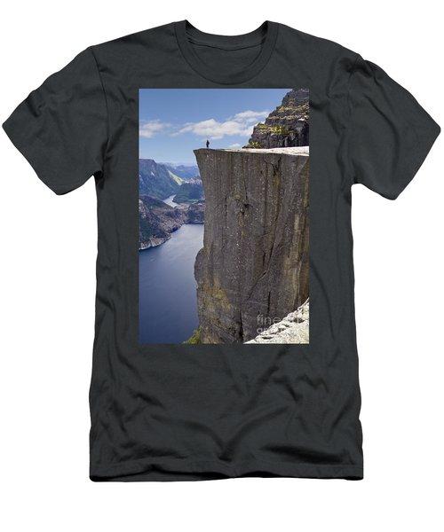 Preikestolen Men's T-Shirt (Slim Fit) by Heiko Koehrer-Wagner