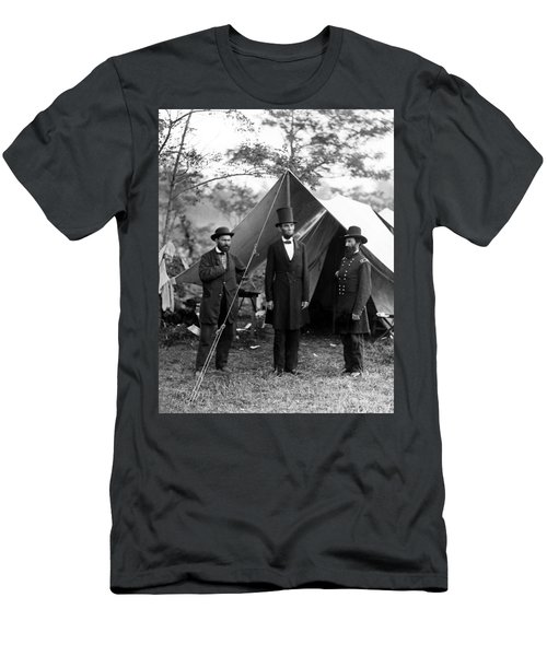 President Lincoln Meets With Generals After Victory At Antietam Men's T-Shirt (Athletic Fit)
