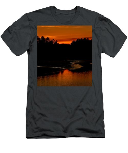 Presumpscot Sunset No.101 Men's T-Shirt (Slim Fit) by Mark Myhaver