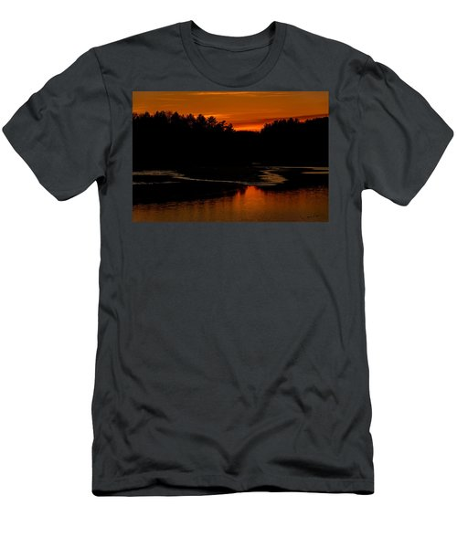 Men's T-Shirt (Athletic Fit) featuring the photograph Presumpscot Sunset No.101 by Mark Myhaver