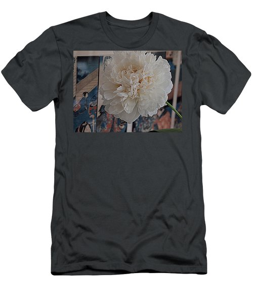 Men's T-Shirt (Slim Fit) featuring the photograph Pretty As A Print by Nancy Kane Chapman