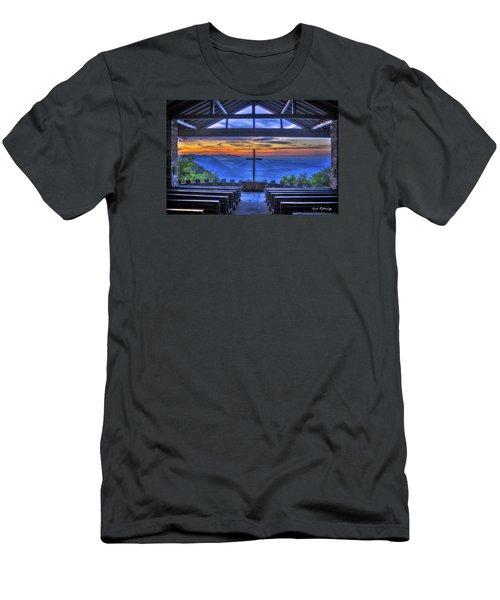 Pretty Place Chapel Sunrise 777  Men's T-Shirt (Slim Fit) by Reid Callaway