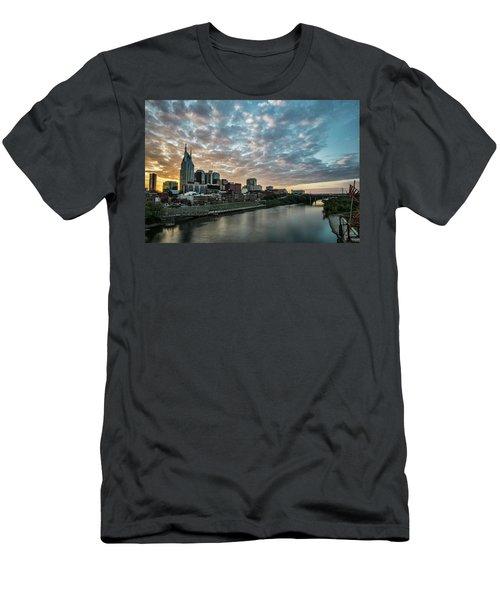 Pretty Sky And Nashville Skyline Men's T-Shirt (Athletic Fit)