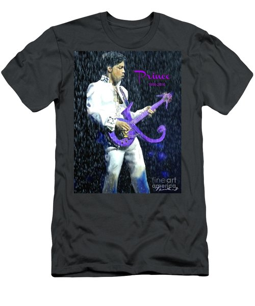 Prince 1958 - 2016 Men's T-Shirt (Slim Fit) by Vannetta Ferguson