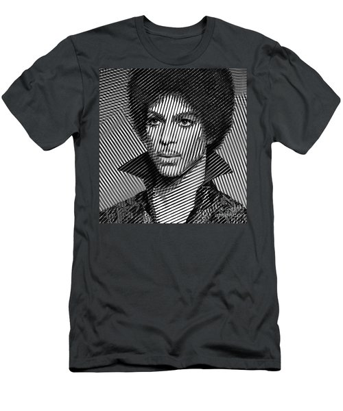 Prince - Tribute In Black And White Sketch Men's T-Shirt (Athletic Fit)