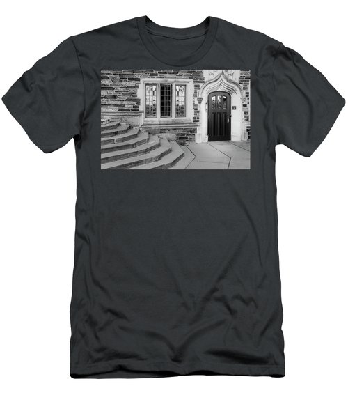 Men's T-Shirt (Slim Fit) featuring the photograph Princeton University Lockhart Hall Bw by Susan Candelario