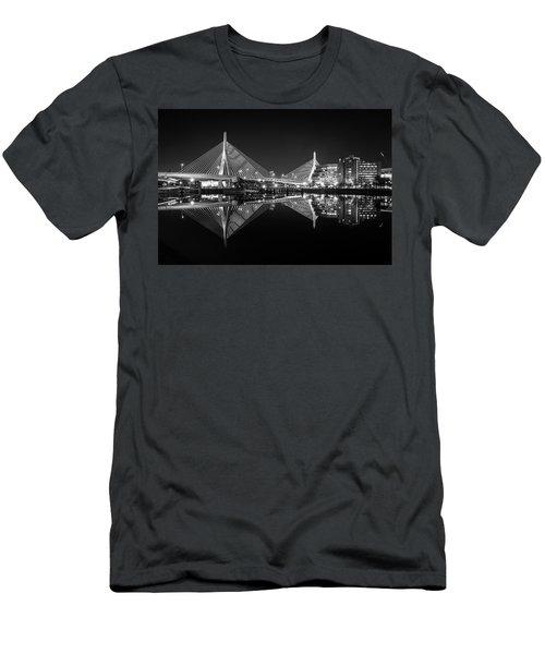 Pristine Reflections At Zakim Bridge Men's T-Shirt (Athletic Fit)