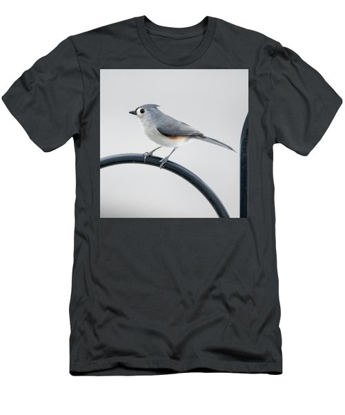 Profile Of A Tufted Titmouse Men's T-Shirt (Athletic Fit)