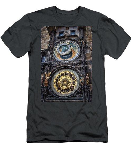 Progue Astronomical Clock Men's T-Shirt (Slim Fit) by Sheila Mcdonald