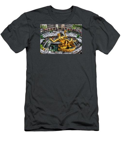 Men's T-Shirt (Slim Fit) featuring the photograph Prometheus by Rafael Quirindongo