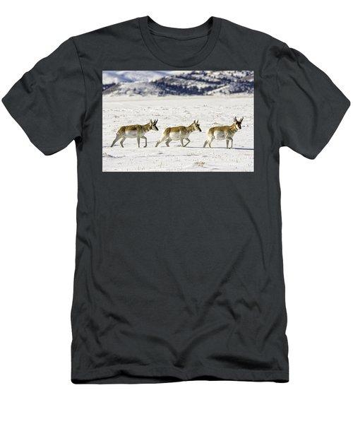 Pronghorns Men's T-Shirt (Athletic Fit)