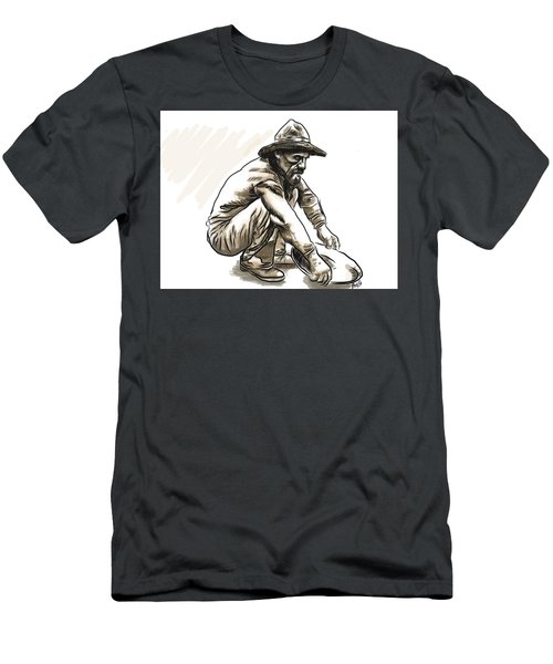 Men's T-Shirt (Athletic Fit) featuring the digital art Prospector by Antonio Romero
