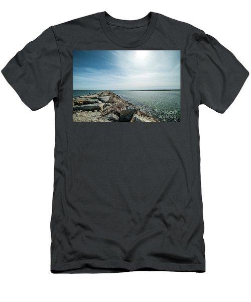 Provincetown Breakwater Men's T-Shirt (Athletic Fit)