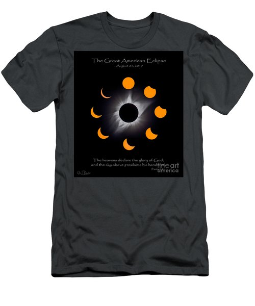 Psalm Nineteen Solar Eclipse Men's T-Shirt (Athletic Fit)