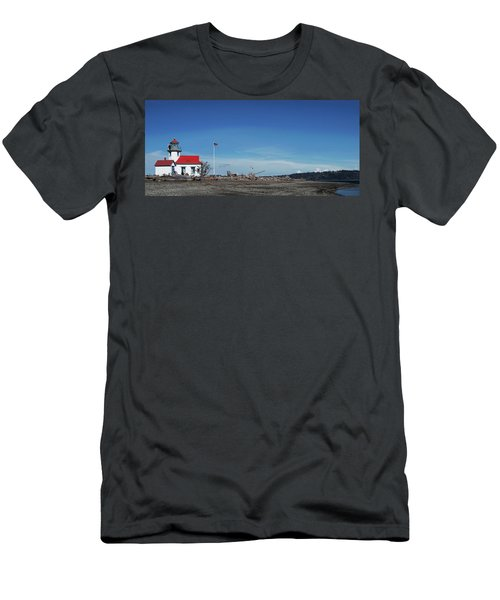 Pt Robinson Lighthouse 2, Maury Island, Washington Men's T-Shirt (Athletic Fit)