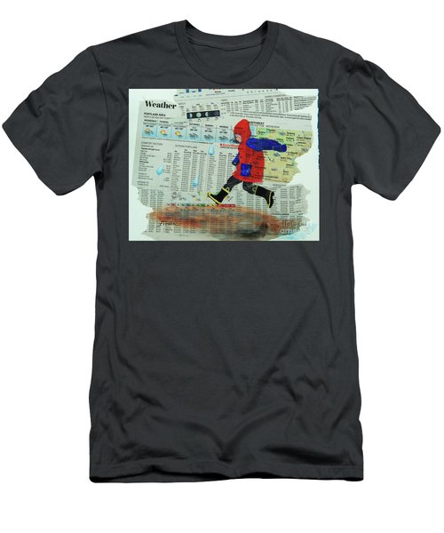 Puddle Jumping Men's T-Shirt (Athletic Fit)