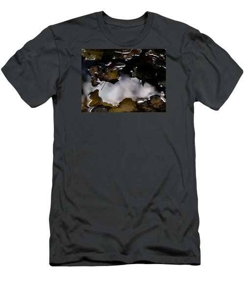 Puddle Of Leaves Men's T-Shirt (Slim Fit) by Jane Ford