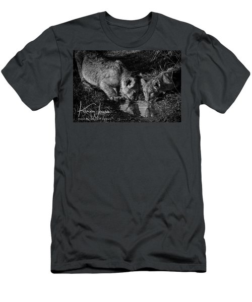 Men's T-Shirt (Slim Fit) featuring the photograph Puddle Time by Karen Lewis