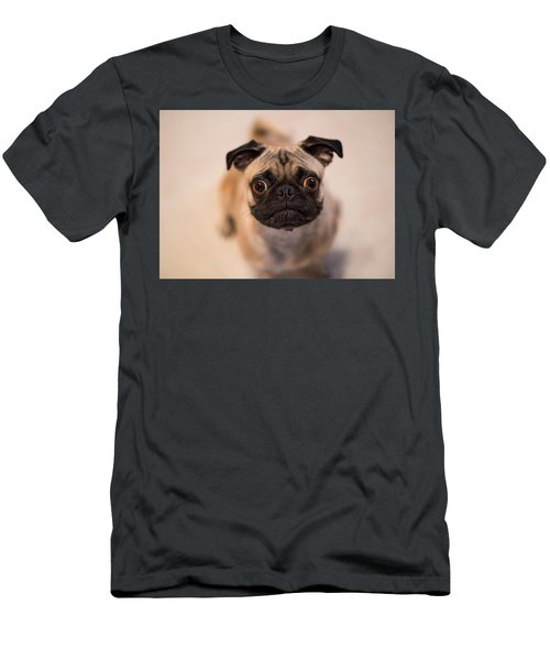 Men's T-Shirt (Slim Fit) featuring the photograph Pug Dog by Laura Fasulo