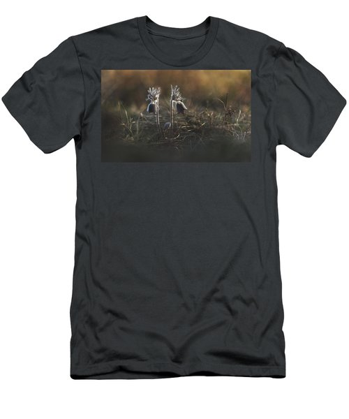 Men's T-Shirt (Slim Fit) featuring the photograph Pulsatilla Nigricans by Davorin Mance