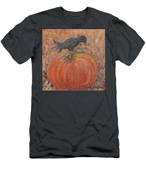 Pumpkin Crow Men's T-Shirt (Athletic Fit)