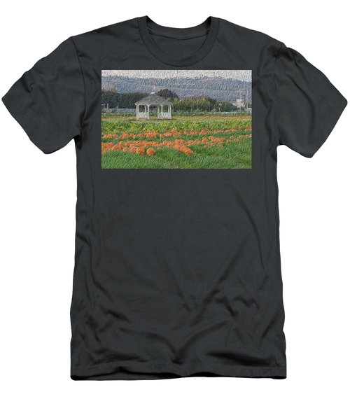 Pumpkin Field Men's T-Shirt (Athletic Fit)