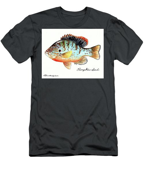 Pumpkin Seed Fish Men's T-Shirt (Athletic Fit)