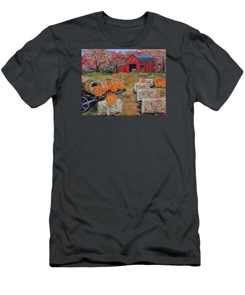Pumpkin Time Men's T-Shirt (Slim Fit) by Mike Caitham