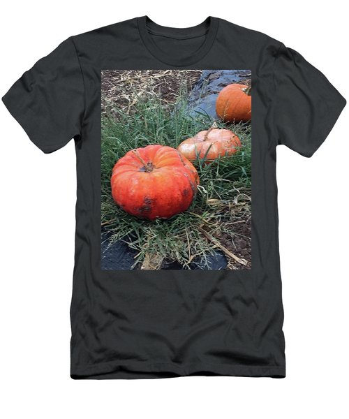 Pumpkins In A Row Men's T-Shirt (Athletic Fit)